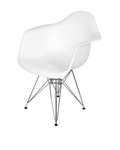 Stilnovo Mid-Century Eiffel Dining Arm Chair, White