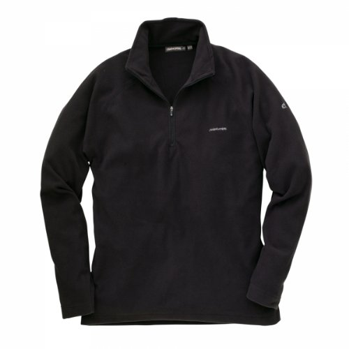 Craghoppers Mens Basecamp Microfleece Half Zip Jacket Black 2XL