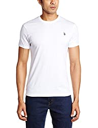 U.S. Polo Assn. Men's Crew Neck Cotton T-Shirt (I030-001-P1-S White)