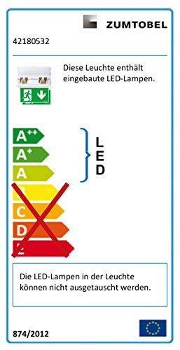 Licht-zumtobel rettungszeichenleuchte aRTSIGN 42180532 c #eD nDA rZ - 2U 4024318954929 éclairage de secours