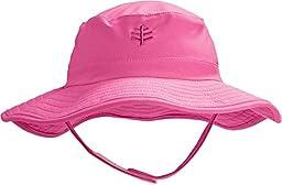Coolibar UPF 50+ Baby Splashy Bucket Hat - Sun Protective, Aloha Pink, 12-24 Months