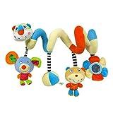 Happy cherry - Juguetes Colgantes Espiral para cochecitos cunas de Peluche Veludillo con Sonidos para Beb�s reci�n nacidos Ni�os ni�as para Arrastrar
