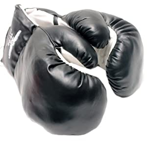 Click here to buy 1 Pair Black 16oz Punching Boxing Gloves for Fighters by Shelter.