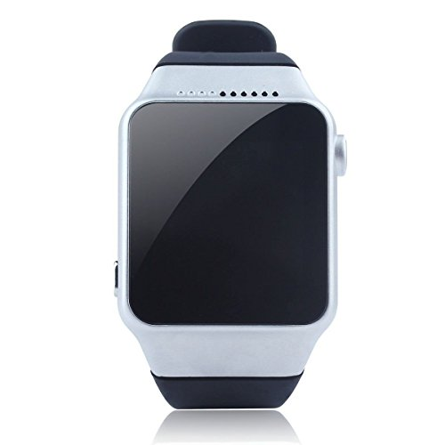 Generic HD Touch Screen Bluetooth Smart Wrist Watch Phone Camera Sync Phone Call (Silver)