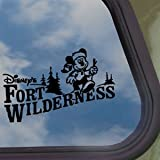 FORT WILDERNESS Black Decal DISNEY MICKEY Window Sticker