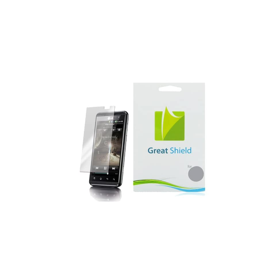 GreatShield Ultra Anti Glare (Matte) Clear Screen Protector Film for LG Thrill 4G / LG Optimus 3D (3 Pack)