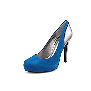 BCBGeneration Paeyton Womens Size 9 Blue Kid Suede Pumps Heels Shoes