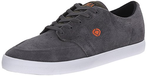 C1RCA Men's Transit Skate Shoe, Shale/Burnt Orange, 8 M US