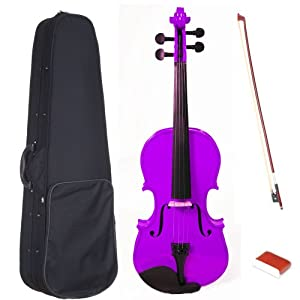 Barcelona Entry Series Full-Size Violin with Case, Rosin, Bow, and Strings - Purple