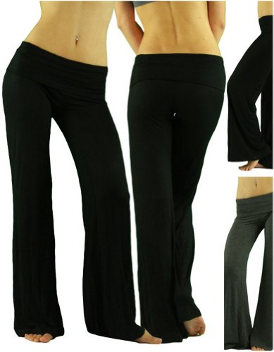 yoga pants super comfy soft material foldover waist low