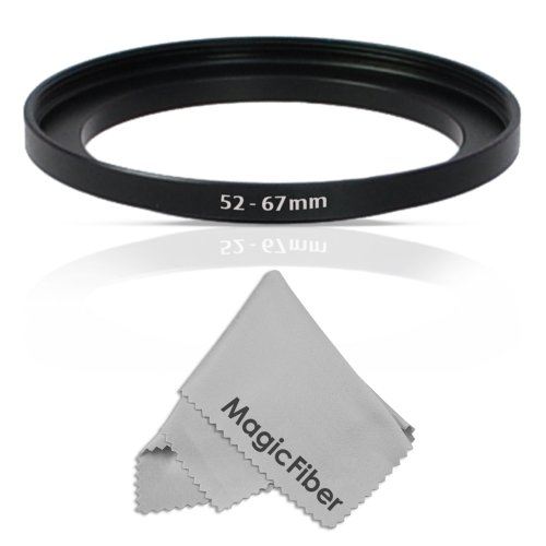 Goja 52-67Mm Step-Up Adapter Ring (52Mm Lens To 67Mm Accessory) + Premium Magicfiber Microfiber Cleaning Cloth