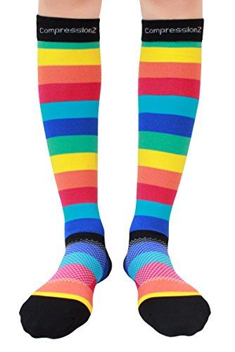 Compression Socks (Rainbow Stripes XL/ 20-30
