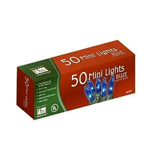 Noma%2FInliten Noma/Inliten-Import 4054-88 Christmas Lights Set, Mini, Blue, 50-Ct.