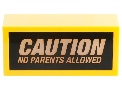 Silly WA0856 Luce con Messaggio Caution No Parents Allowed