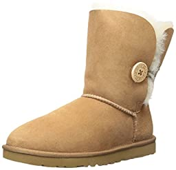 UGG Australia Women\'s Bailey Button Sheepskin Boot Chestnut 10 M US