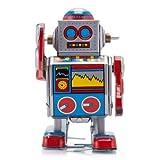 Mini D Robot Classic Tiny Tin Toy, Metal Robot Winds Up, Tin Toy Collection, 3
