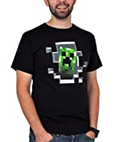 Minecraft Creeper Inside Black T-Shirt