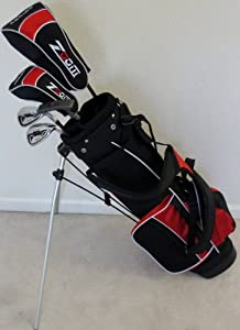 Boys Right Handed Junior Golf Club Set with Stand Bag for Kids Ages 8-12 Red Color... by PG Golf Equipment