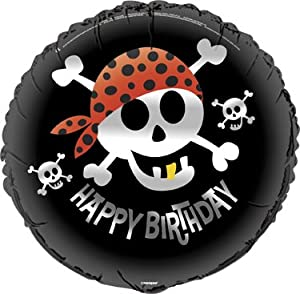 "Skull w/ Bandana 18"" Party Mylar Foil Balloon: Health & Personal Care"