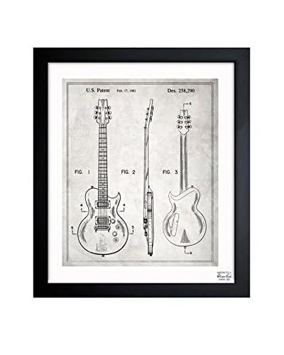Oliver Gal Electric Guitar 1981 Framed Art