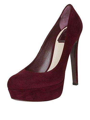 Christian Dior Donne High Heels vera pelle bordeaux 36