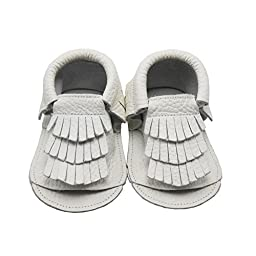 Sayoyo Baby Tassels Soft Sole Leather Infant Toddler Prewalker Shoes Sandal Toddler Summer Shoes