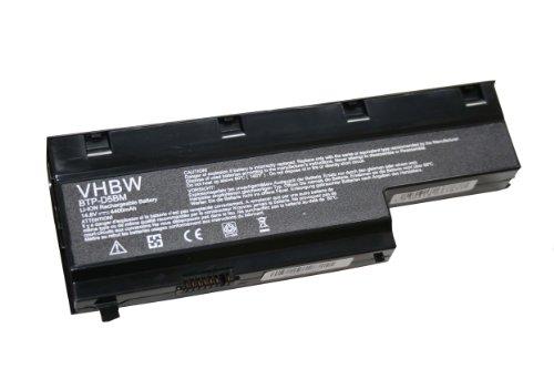 vhbw Li-Ion Akku 4400mAh (14.8V) für Notebook Laptop Medion Akoya MD98360, MD98410, MD98550, MD98580 wie BTP-D4BM, BTP-D5BM, 40029778, 40029779.