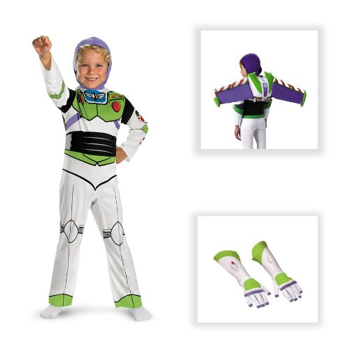 Toy Story Buzz Lightyear Classic Child Costume with Jet Pack and Gloves - Small (4-6)