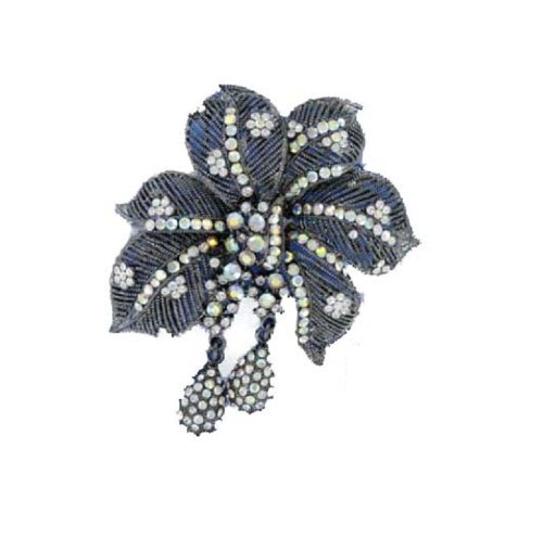Fashion Trendy Brooch Antique Silver #015873