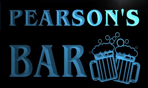 w000281-b-pearsons-nom-accueil-bar-pub-beer-mugs-cheers-neon-sign-biere-enseigne-lumineuse