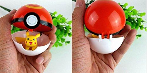 Pokémon Go Poké Ball with Pikachu Mini Toy Anime Action Figure - Non-Retail Packaging - and Bonus HiperSpeed Pokémon Go Gym Guide