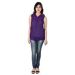 Dovekie Women Purple Polka Top