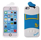 JBG 3D Lovely Disney Series Style Soft Silicone Cover Case Compatible for Apple iPhone 5 5S (Donald Duck)