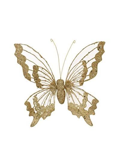 Winward Double Winged Butterfly Ornament, Gold