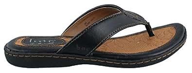 b.o.c Women's Zita BLACK Leather Sandals 6 B(M) US