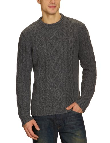 Dockers Chunky Crewneck Men's Jumper Charcoal XX-Large