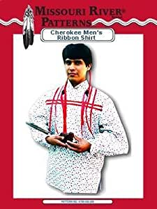 amazoncom mens cherokee ribbon shirt pattern native