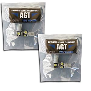 AGT Brand 194 168 5-SMD White High Power LED Car Lights Bulb (Pack of 4)