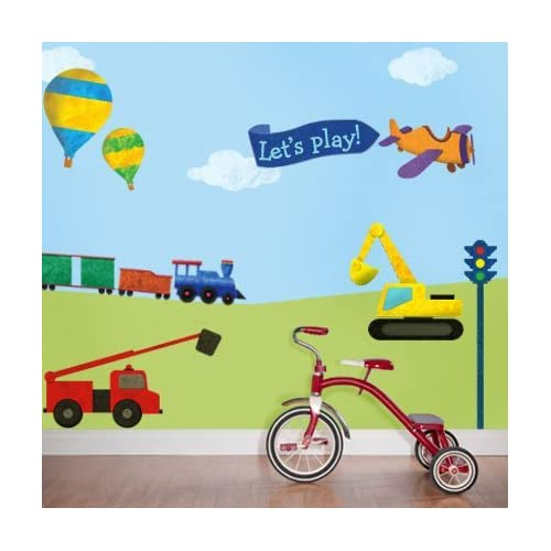 Train Car Truck Wall Sticker Kit - Peel & Stick Removable Wall Decals