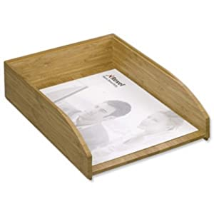 Rexel bamboo letter tray self stacking strong resilient for Bamboo letter tray
