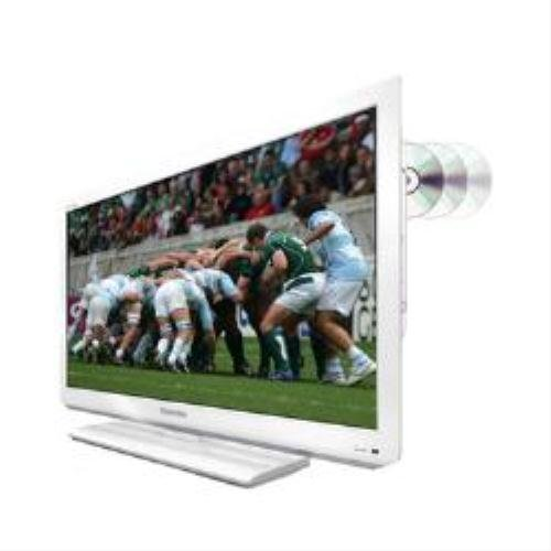 Toshiba 26DL834B 26 inch LED Television with Built-In DVD Player 1000:1 400cd/m2 1366x768 (White)