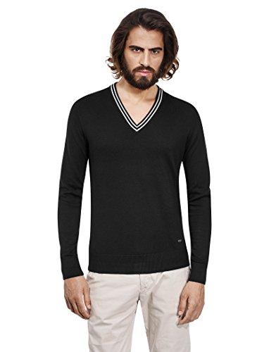 vb-maglione-da-uomo-con-scollo-a-v-e-colletto-a-contrasto-slim-black-x-large