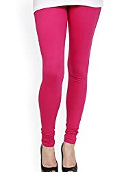 Guruji Creations Women's Cotton Legging(GJC-Leg-001-Pink_Free Size)