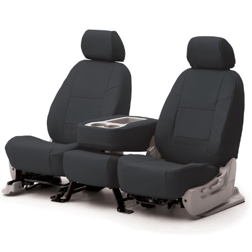 COVERKING CSCQ2TT7148 CUSTOM SEAT COVER (1 ROW) PREMIUM LEATHERETTE SOLID CHARCOAL GRAY 2000 - 2004 Toyota Truck Tundra