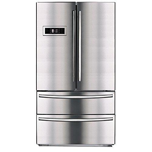 Smeta Counter Depth French Door Bottom Freezer Refrigerator With Ice