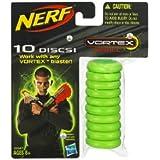 Nerf Vortex Refills 10 discs- Green