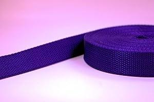 10m PP Gurtband - 40mm breit - 1,2mm stark - lila (UV)