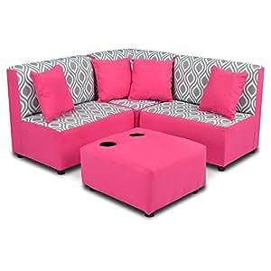 Amazon.com: Zippity Kids Sectional Sofa Set - Nicole Storm ...