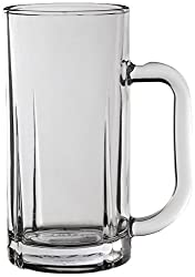 Lyra Glassware British Beer Mug Set, 340ml, Set of 6, Transparent