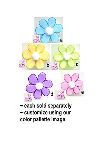 Daisy Flower Pastels Cabinet Drawer Knobs Pull - Floral Theme Decor FREE SHIPPING! (Pastel Drawer Knobs compare prices)